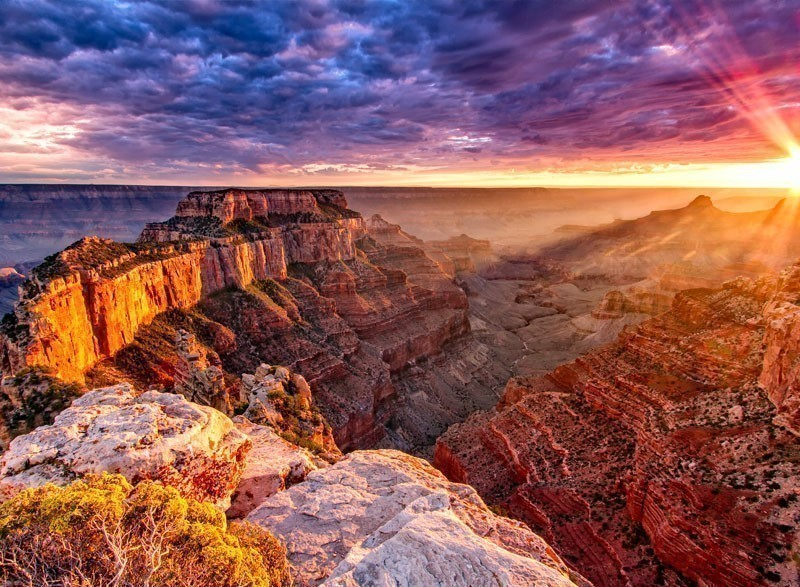 Amazing View of North Rim at Grand Canyon - Cape Royal | 7 National Parks with the Most Scenic Drives