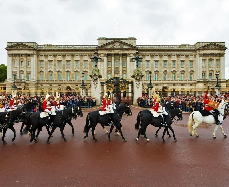 Marching the Queen's Guards during traditional Changing of the Guards ceremony at Buckingham Palace in London, United Kingdom. | 10 Reasons Why You Should Visit London