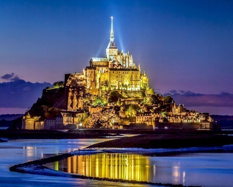 Scenic view of Mont Saint-Michel in Normandy | 10 little towns in France you need to visit Now!