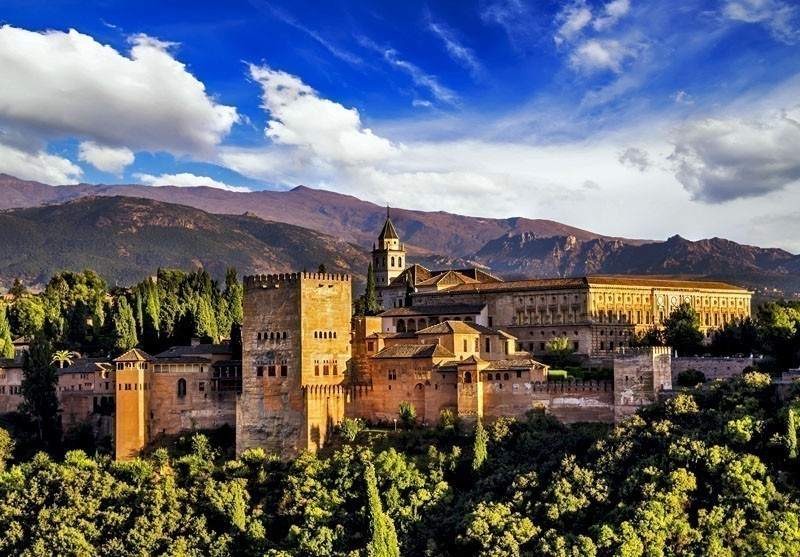 Ancient arabic fortress of Alhambra, Granada | 10 Best Places to Visit in Spain
