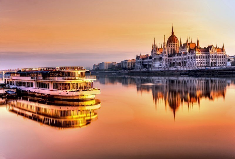 Romantic View of Budapest Parliament at sunrise | 10 of the Cheapest Cities You Must Visit in Europe