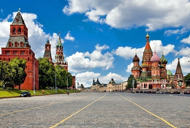 Kremlin and at St. Basil Cathedral on Red Square in Moscow. Russia. | 10 of the Cheapest Cities You Must Visit in Europe
