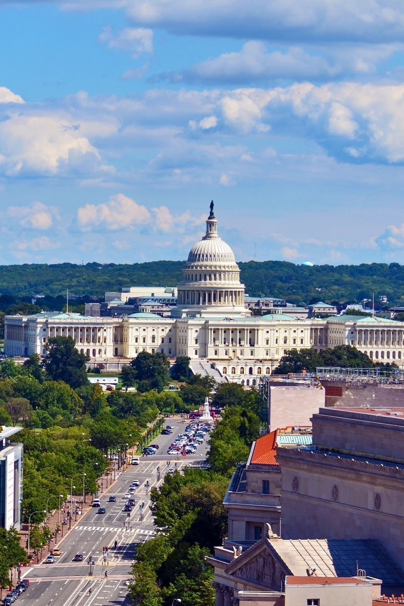 Amazing Aerial view of US Capitol - Washington DC   T OP 10 Places To Travel in March