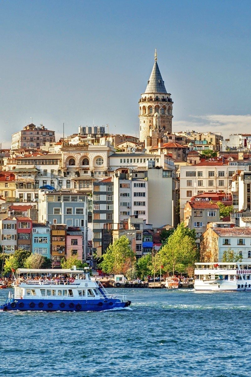 View of Galata Tower over the Golden Horn in Istanbul, Turkey   TOP 10 Places To Travel in May