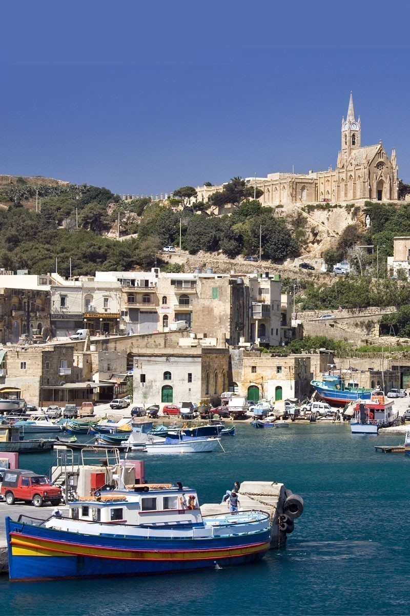Port of Mgarr on the small island of Gozo - Malta   TOP 10 Places To Travel in May