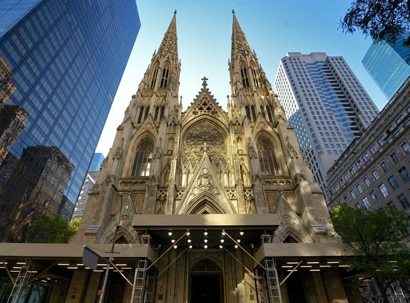 Exterior of St. Patrick's Cathedral in New York | TOP 10 Tourist Attractions in New York City