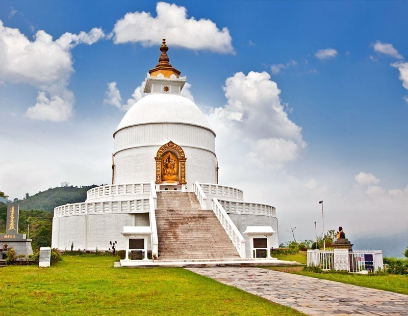 View of World Peace pagoda in Pokhara | 10 Top-Rated Tourist Attractions in Nepal
