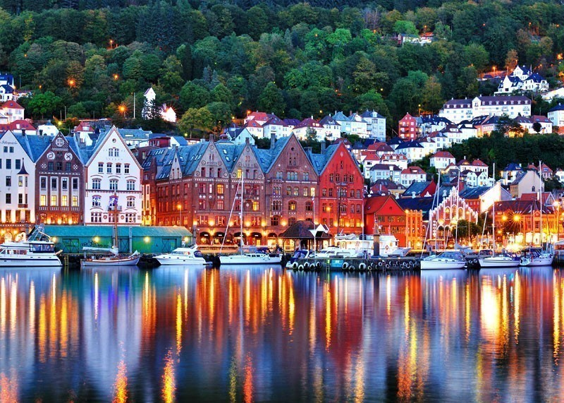Scenery of Bryggen in Bergen. UNESCO World Heritage Site, Bryggen (Bergen) | 10 Top-Rated Tourist Attractions in Norway