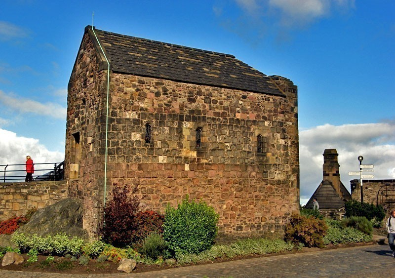 St. Margaret's Chapel,the oldest building in Edinburgh Castle, Scotland | What to Do in Edinburgh in 3 Days