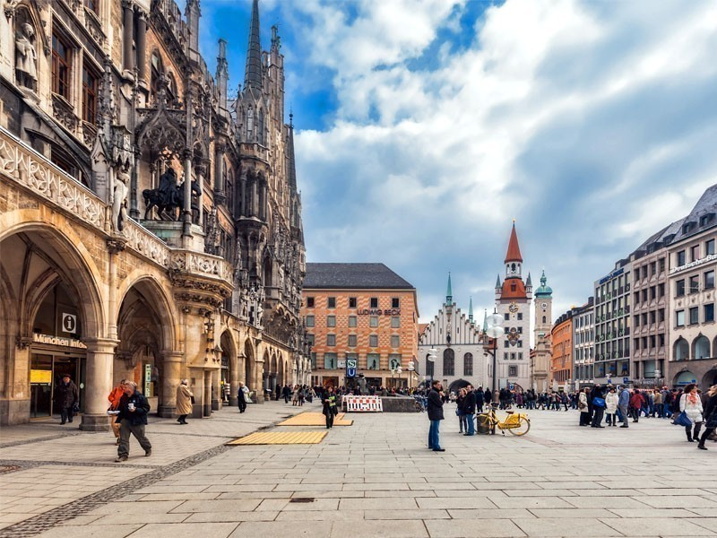 Marienplatz, a large open square that represents Munich`s heart | What to Do in Munich in 3 Days