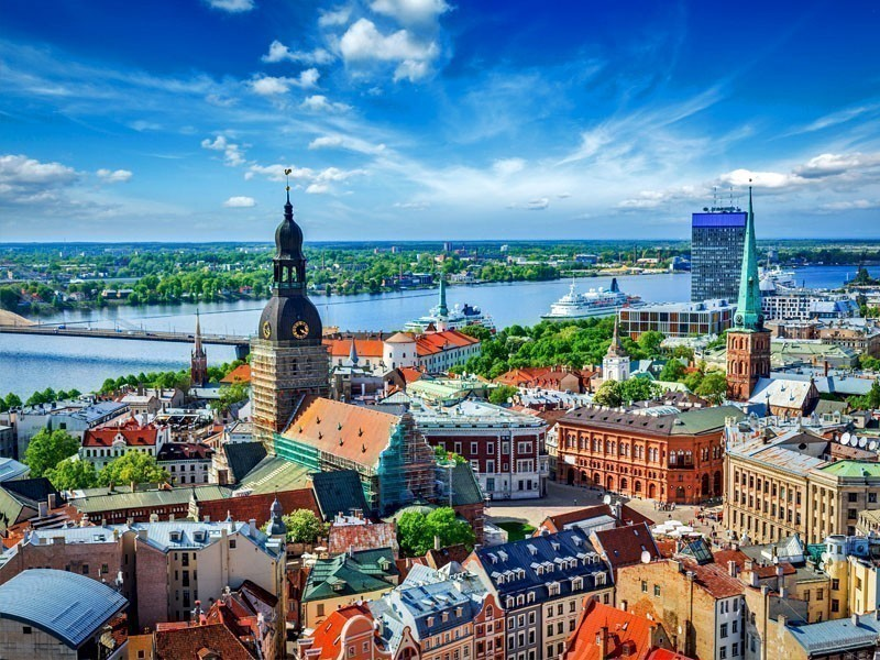 Panoramic view over Old Riga, Latvia from St. Peter's Church | What to Do in Riga in 3 Days