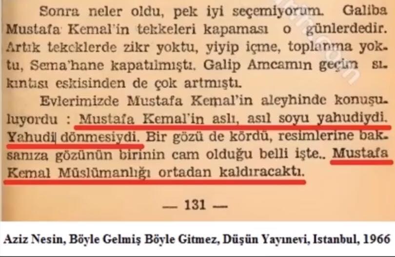 Aziz Nesin Atatürk Mustafakemâlim