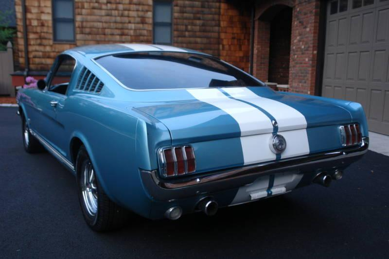 Tahoe Turquoise Blue 1966 Ford Mustang Gt Fastback
