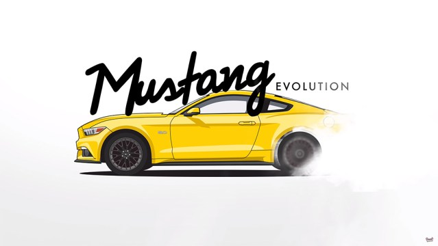 Over 53 years of Mustang history in just a few minutes.