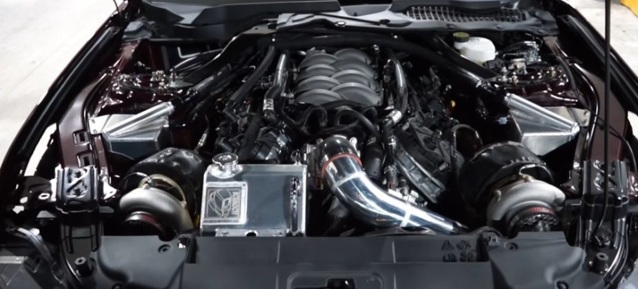 Twin turbo 2018 Mustang GT Engine