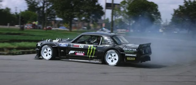 Gymkhana Ten Mustang Hoonicorn Driver Side Slide