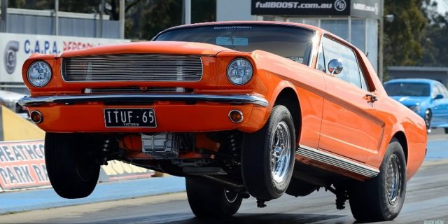 1965 Mustang Wheels Up