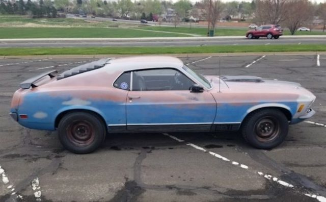 Beater-wrapped 1970 Ford Mustang Mach 1