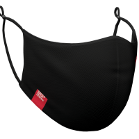 Photograph of a black HeiQ Viroblock +Multi Hi-Tech Protective Washable and Reusable Face Mask.