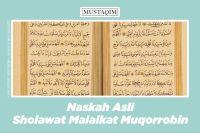 naskah asli sholawat malaikat muqorrobin