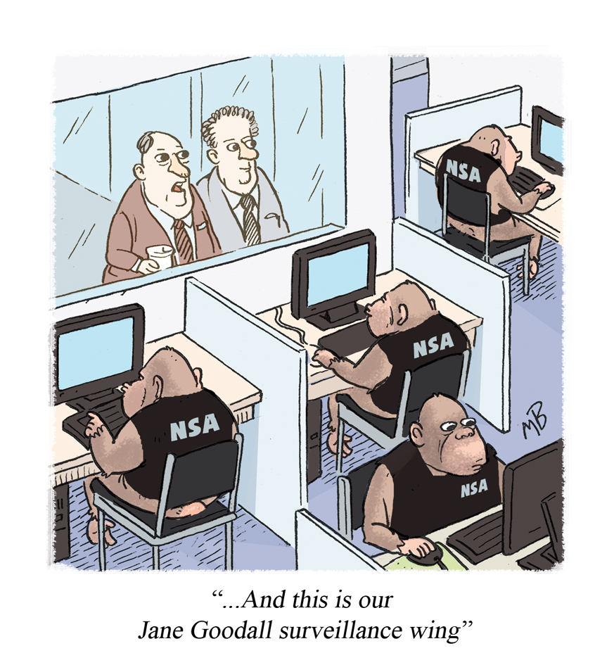 """...And this is our Jane Goodall surveillance wing"""