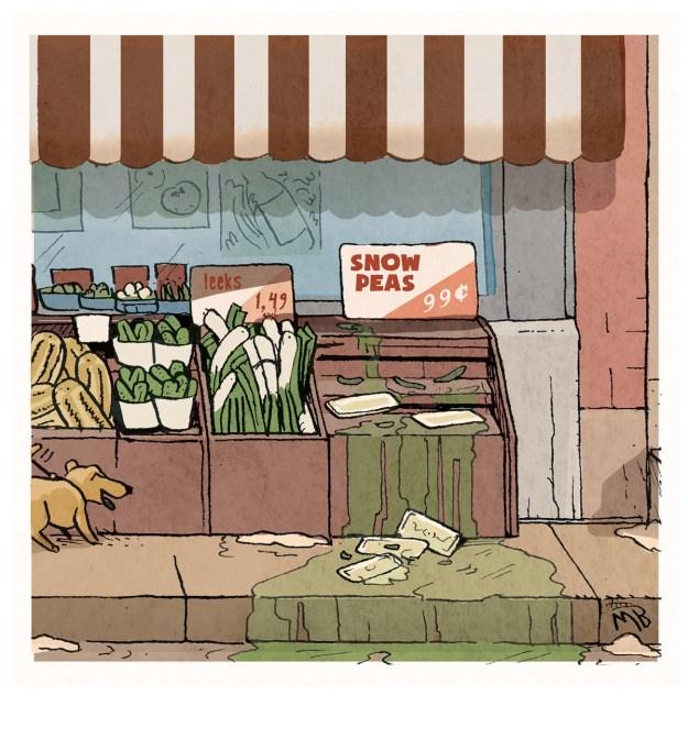 Snow peas Cartoon