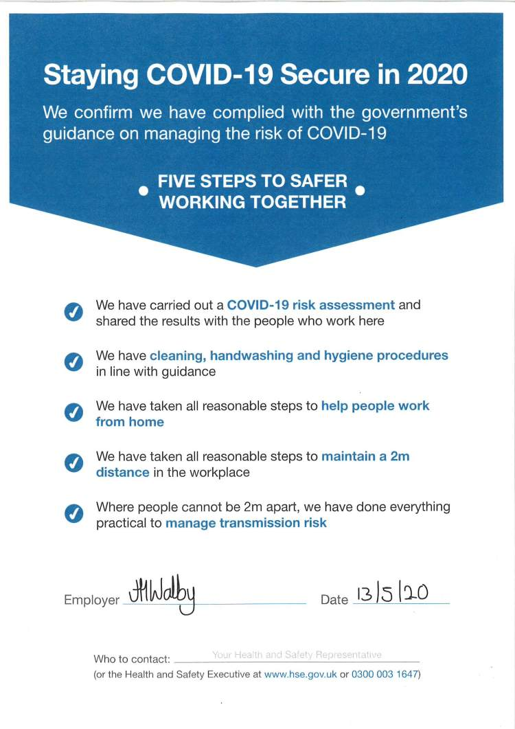 Staying COVID-19 Secure in 2020 – Mustard Tree 2