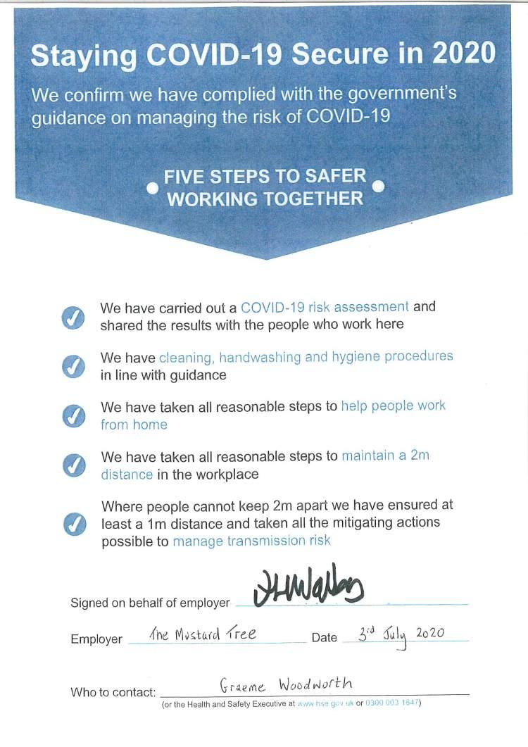 COVID certificate V2