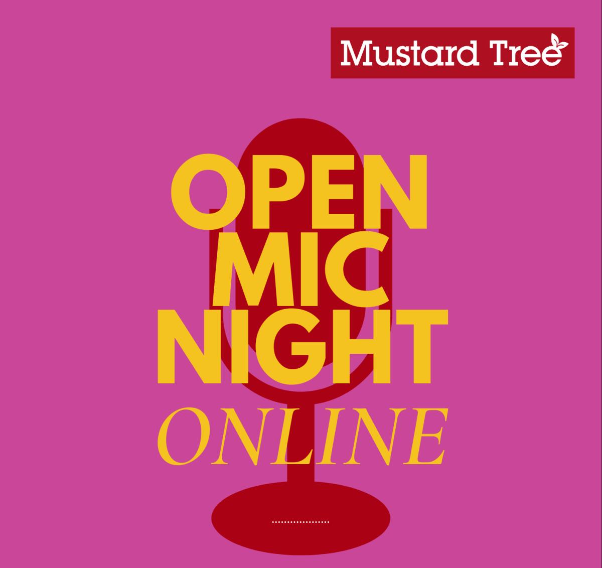 Open Mic Night [Online]: Thursday 10th September, 6pm