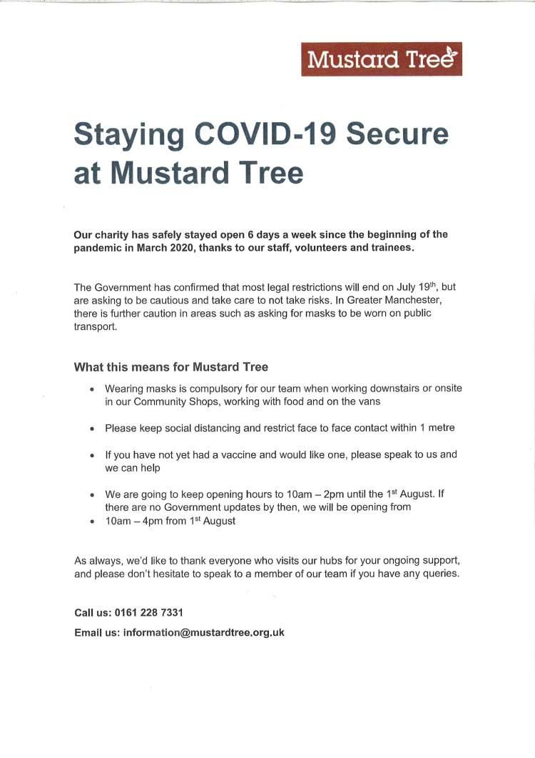 Covid secure 2