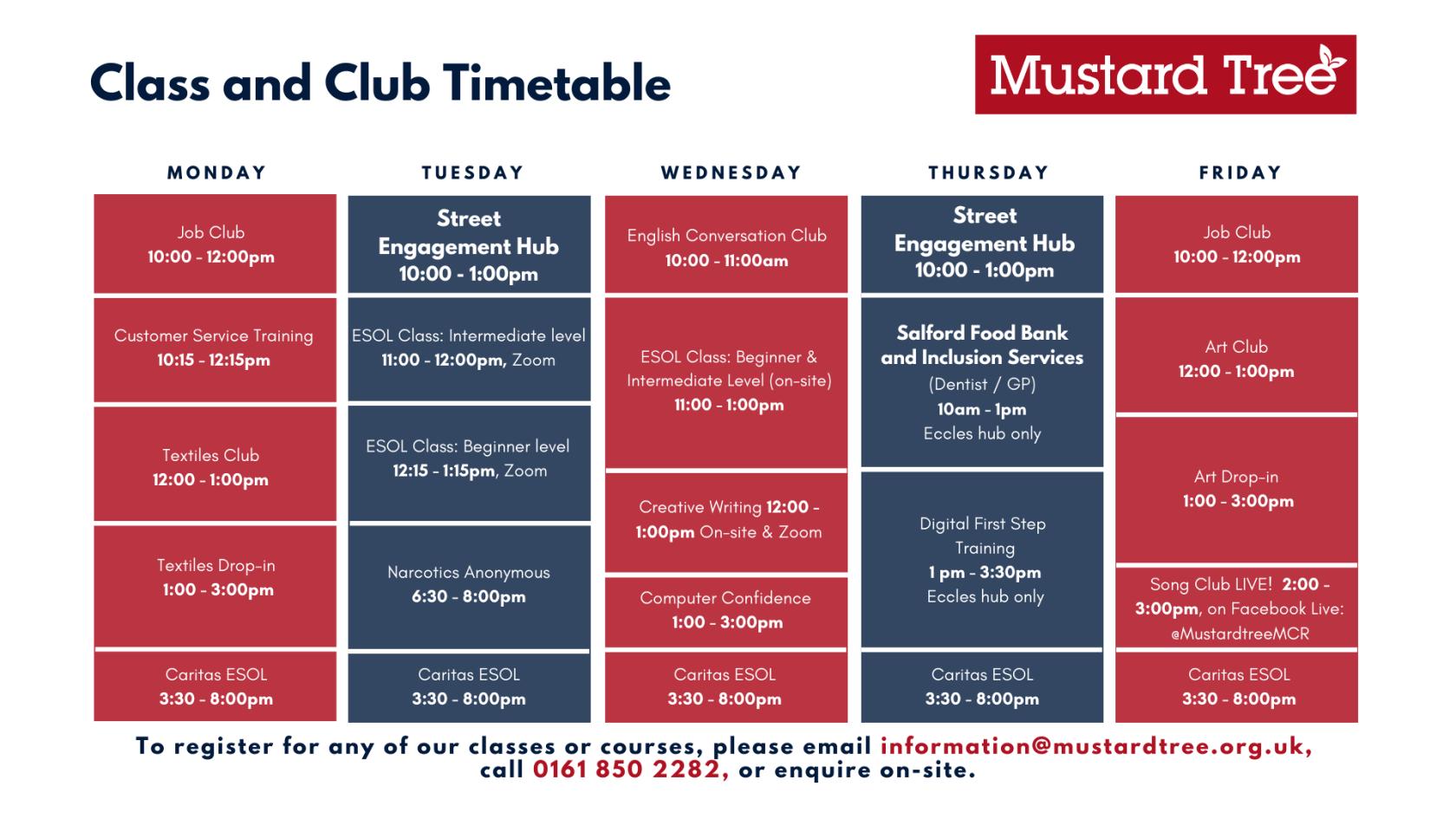 Copy of Class & Club Timetable V4.5