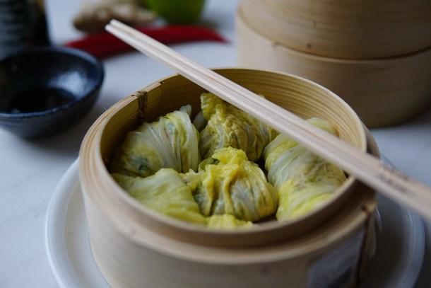 Dim Sum met Chinese Kool en kip