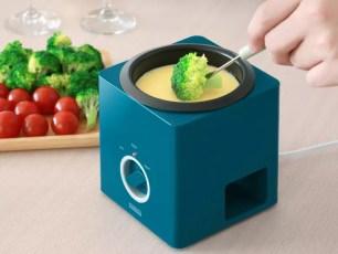 方塊造型,不像鍋的起司火鍋爐