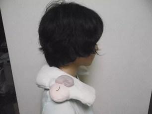 慢慢加溫舒緩肩膀疲勞「安眠晚安羊 蒸氣肩枕」