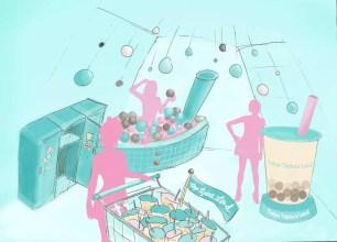 珍奶熱潮持續中~原宿‧珍珠奶茶主題樂園「東京Tapioca Land」8/13限期登場