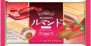 BOURBON冰品「蘿蔓捲冰淇淋雪派 草莓」新口味上市♪販售3周年紀念改版升級