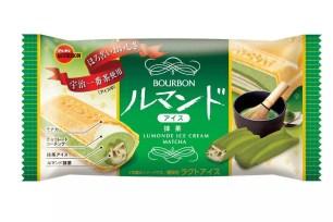 BOURBON冰品新口味「蘿蔓捲冰淇淋雪派 抹茶」2020年2月10日上市☆