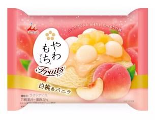 井村屋冰淇淋春季新口味♡香甜濃郁「麻糬冰淇淋Fruits白桃&香草」