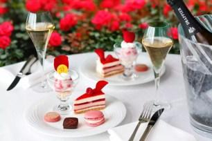 東京新大谷飯店「Red Rose Garden」☆鮮紅薔薇盛開美景&限定甜點