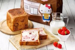 僅在六日販售!數量‧1月限定「嵜本×Hello Kitty 附環保購物袋 草莓牛奶吐司」