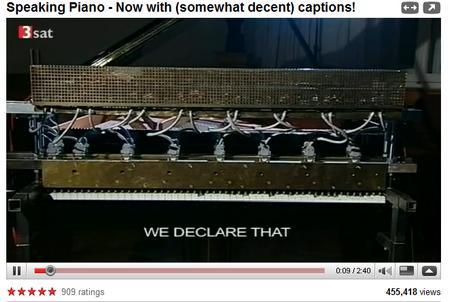 *Speaking Piano