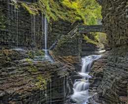 Rainbow Falls At Watkins Glen State Park