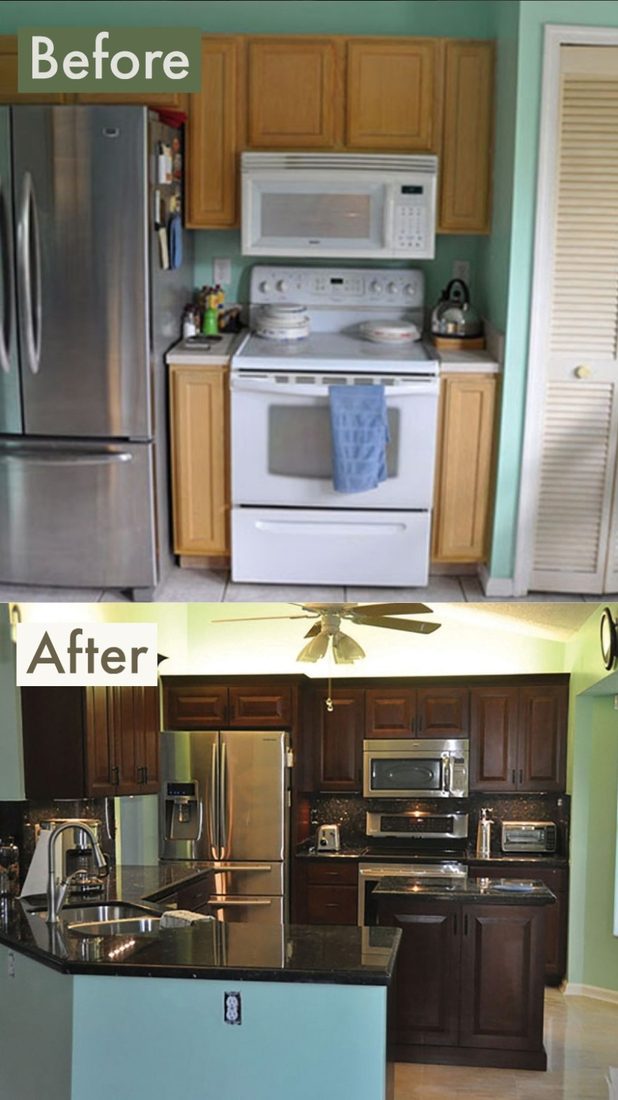 galley kitchen makeovers photos