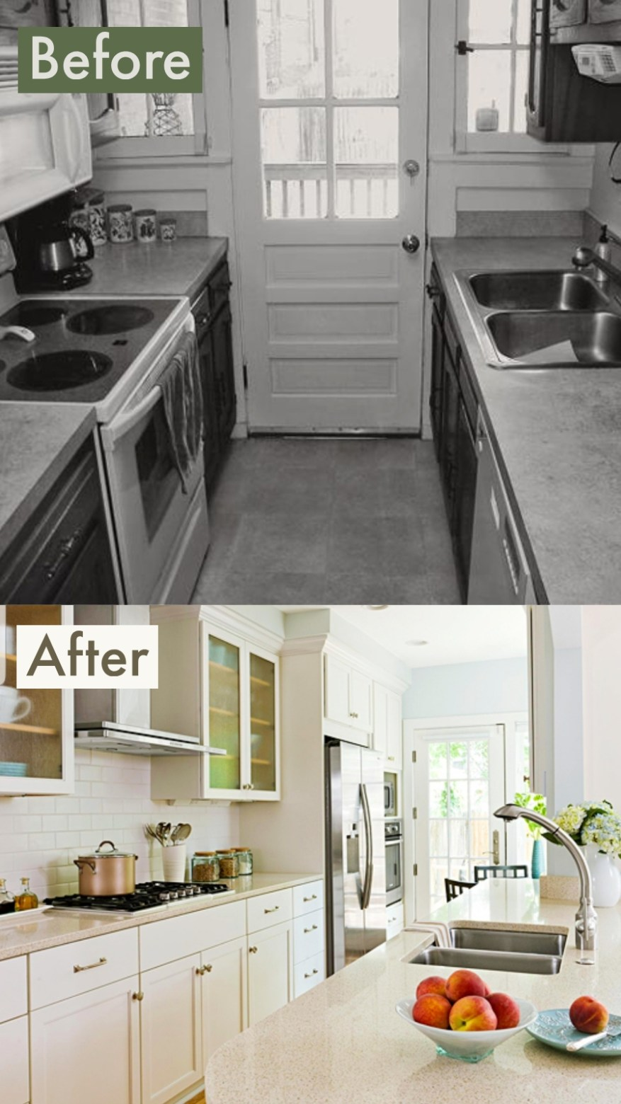 galley kitchens before and after