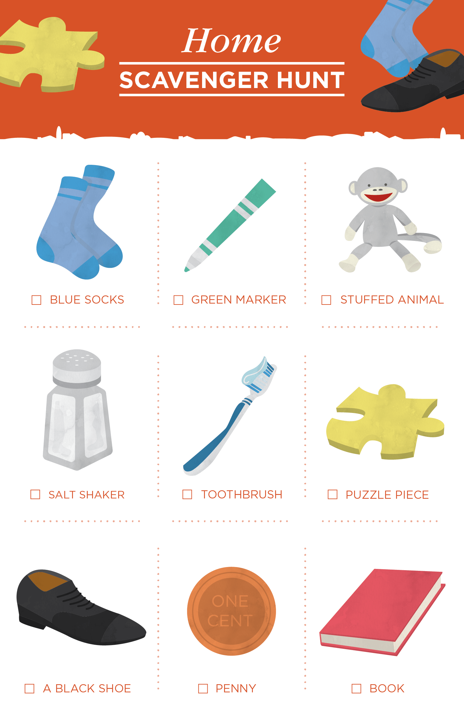 10 Free Scavenger Hunt Printables For Kids