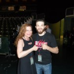 Susan Cingari with UFC fighter Mike Rio at the CFA fight