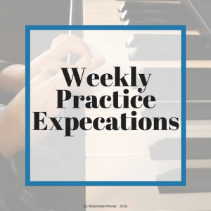 Weekly Practice Expectations