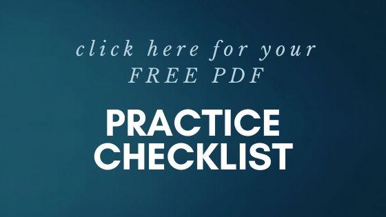 FREE practice checklist
