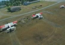 """Бывший аэропорт """"Пески"""" - лакомый кусочек на берегу Онежского озера. Фото: russianplanes.net"""