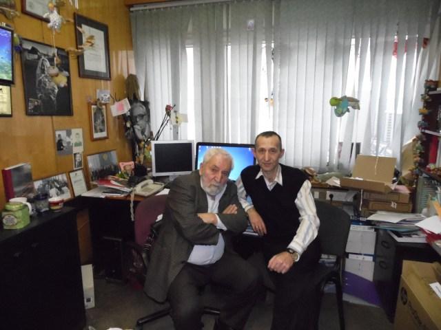 """Журналист """"Черники"""" с Алексеем Симоновым. Фото: Алексей Владимиров"""